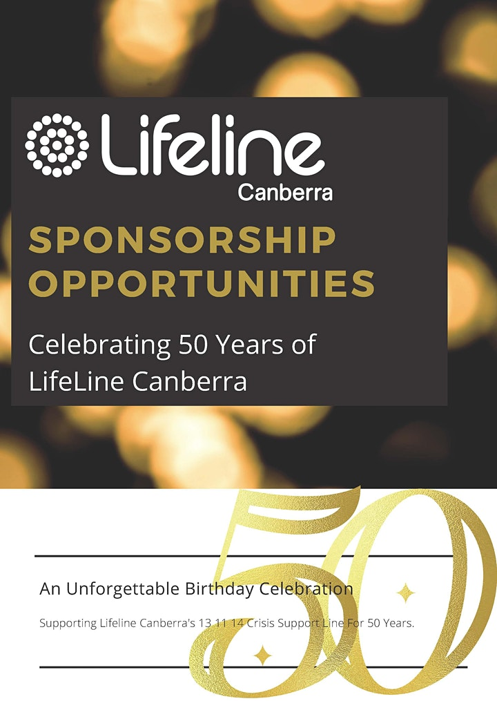 Lifeline Canberra Turns 50 - Cocktail Party image