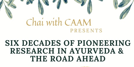 Chai with CAAM...Six Decades of Research... tickets