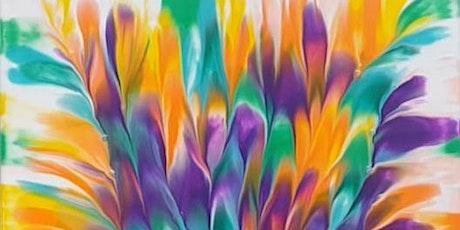 SCHOOL HOLIDAY Fluid Art Class for CHILDREN - Flower Dip tickets