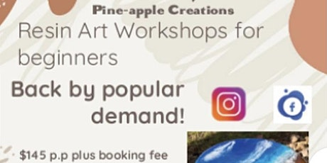 Resin workshop for beginner (ALICE SPRINGS) SAT 4 SEPT 10-12noon tickets
