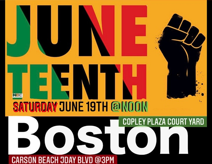 Juneteenth Boston - Copley @noon; Carson Beach @3pm image