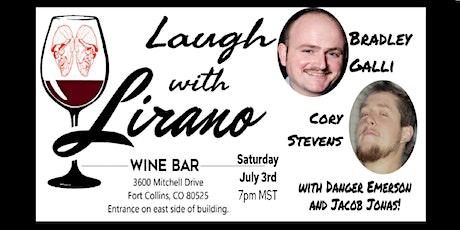 Comedy Night at Lirano Wine Bar tickets