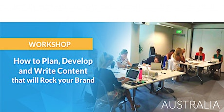 How to Plan, Develop and Write Content that will Rock your Brand tickets