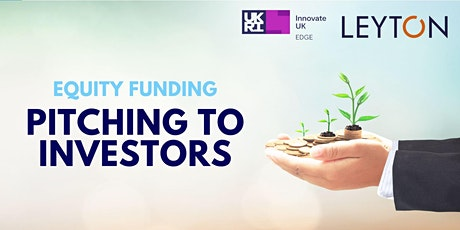 Equity Funding: Pitching to Investors tickets