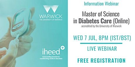 MSc Diabetes: University of Warwick - Info Webinar - IE/UK July 2021 tickets