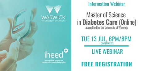 MSc Diabetes: University of Warwick - Info Webinar - AU July 2021 tickets