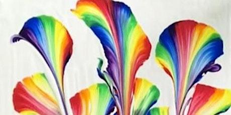 SCHOOL HOLIDAY Fluid Art Class for CHILDREN - 'String Pull' tickets