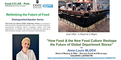 Rethinking The Future of Food - Anne-Laure BLOCH tickets