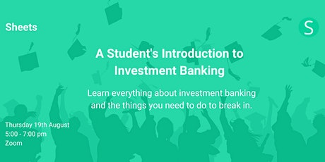 A Student's Introduction to Investment Banking tickets