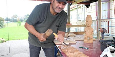 Toi whakairo ( carving) lessons with Natanahira Te  Pona tickets