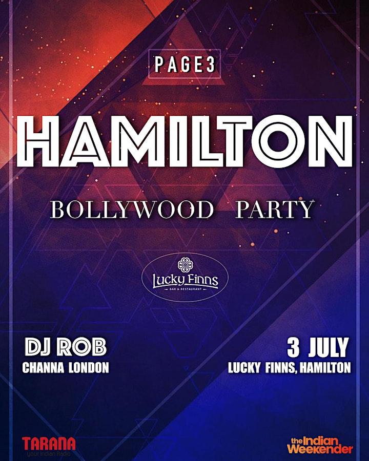 PAGE3 HAMILTON - Bollywood Party image