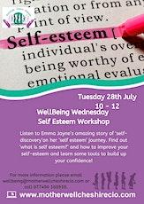 Self Esteem WellBeing workshop tickets