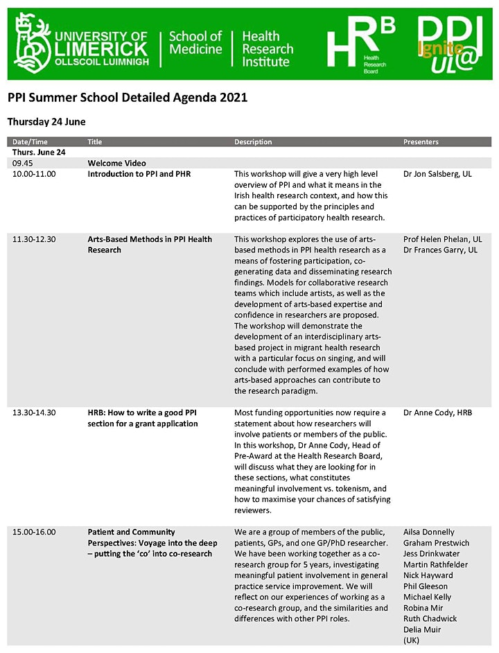 6th Public and Patient Involvement (PPI) Summer School image
