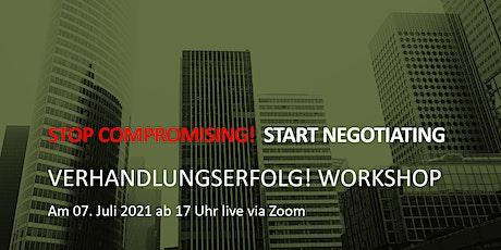 Verhandlungserfolg! Workshop Tickets