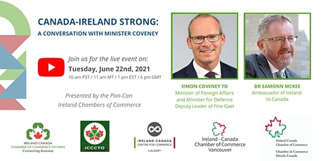 Canada-Ireland Strong: Conversation with Minister Simon Coveney TD tickets