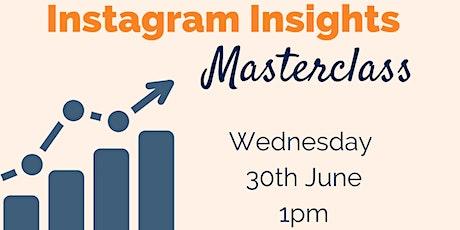 Instagram Insights Masterclass tickets