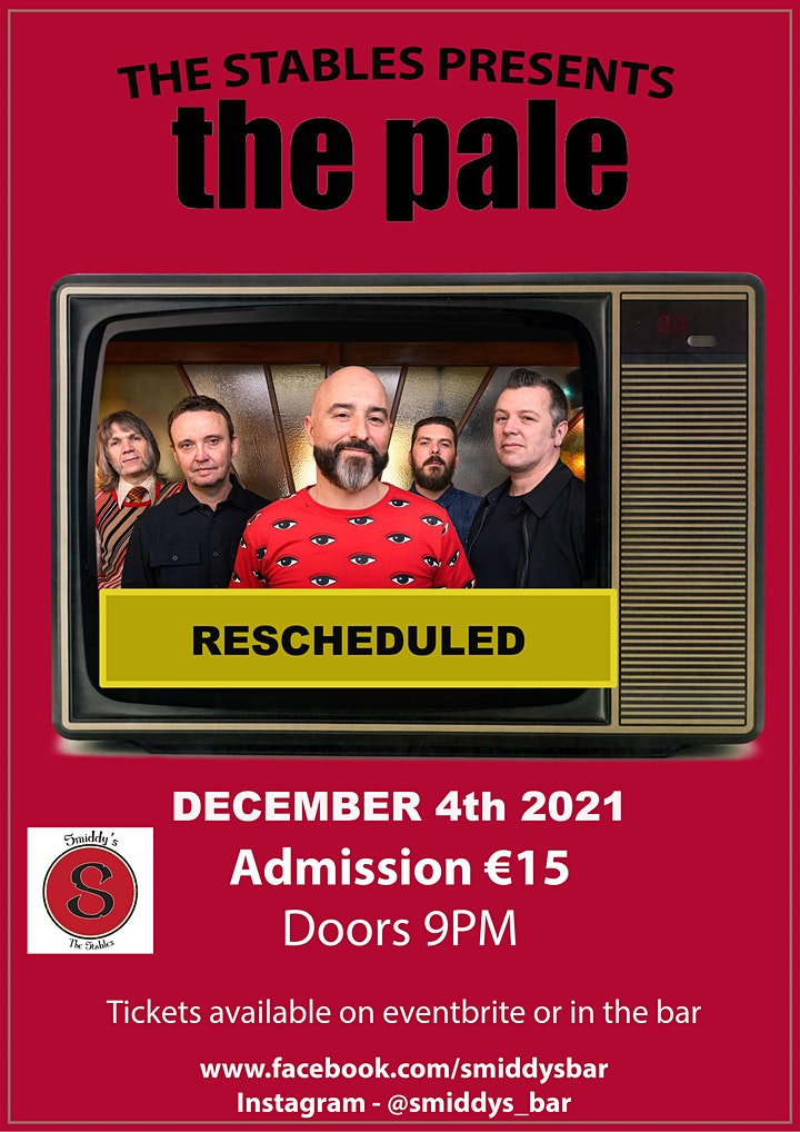 The Pale Live At The Stables Mullingar image