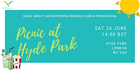 Social Impact and Responsible Business Club In-person Social tickets