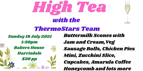 High Tea with the ThermoStars using your TM31, TM5 and Tm6 tickets