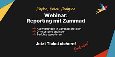 Kostenloses Webinar: Reporting mit Zammad (Deutsch) Tickets