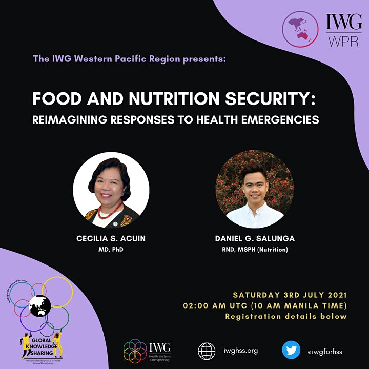 IWG Western Pacific Region Global Lecture: Food & Nutrition Security image