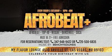 AFROBEAT PLUS SATURDAYS tickets