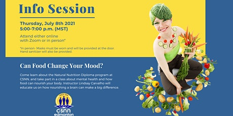 Natural Nutrition Info Session & A Class On How Food Can Change Your Mood tickets