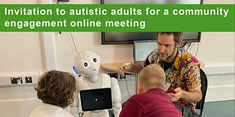 Invitation to autistic adults for a community engagement online meeting tickets
