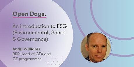 An introduction to ESG (Environmental, Social & Governance) tickets