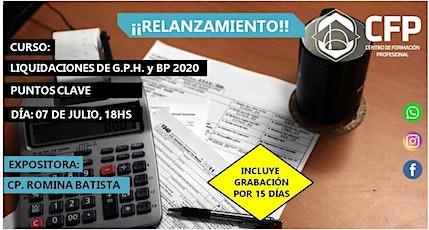 RELANZAMIENTO Puntos Clave en las liquidaciones de G.P.H. y B.P. 2020 entradas