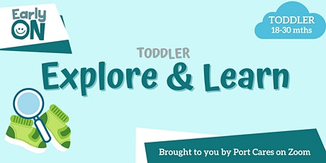 Toddler Explore & Learn - Tracing and Counting Numbers tickets