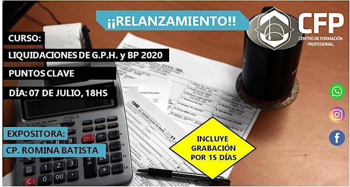 Imagen de RELANZAMIENTO Puntos Clave en las liquidaciones de G.P.H. y B.P. 2020