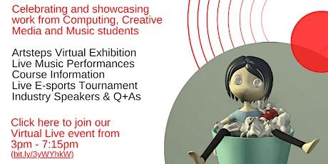 Creative and Computing Virtual Showcase Thursday 24 June 2021 - 3pm-7.15pm tickets