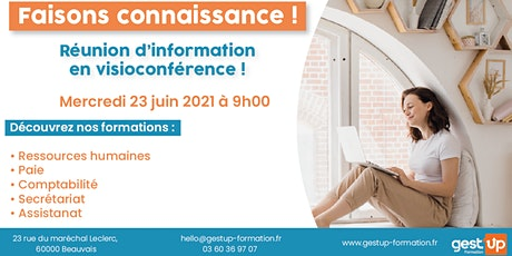 Gest'up visio - Réunion d'information collective tickets