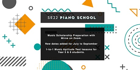 Music Scholarship & Aptitude 1-to-1 Lessons with Mirna on Zoom tickets