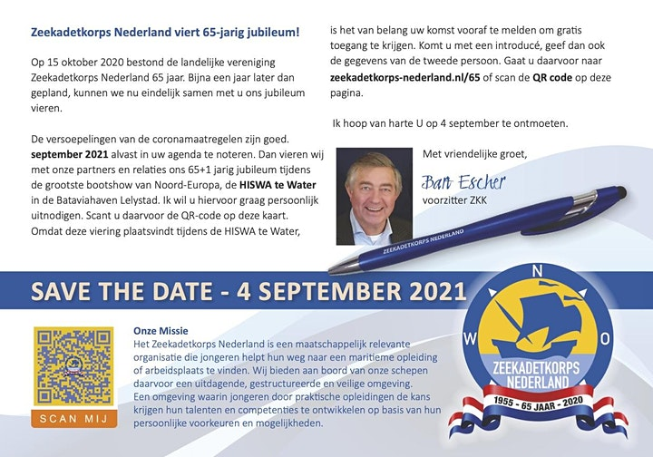 Afbeelding van Jubileumviering 65-jarig bestaan Zeekadetkorps Nederland