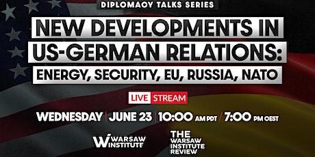 New developments in US-German relations: energy, security, EU, Russia, NATO biljetter