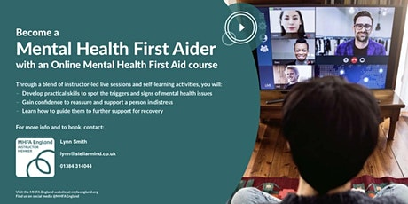 Online Adult Mental Health First Aid Course tickets