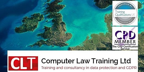 Data Protection (GDPR) Foundation Certificate - live, online tickets