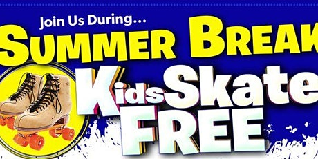 Kids Skate FREE  in June on Sundays  - Sunday, June 27th 1:00-3:30pm tickets