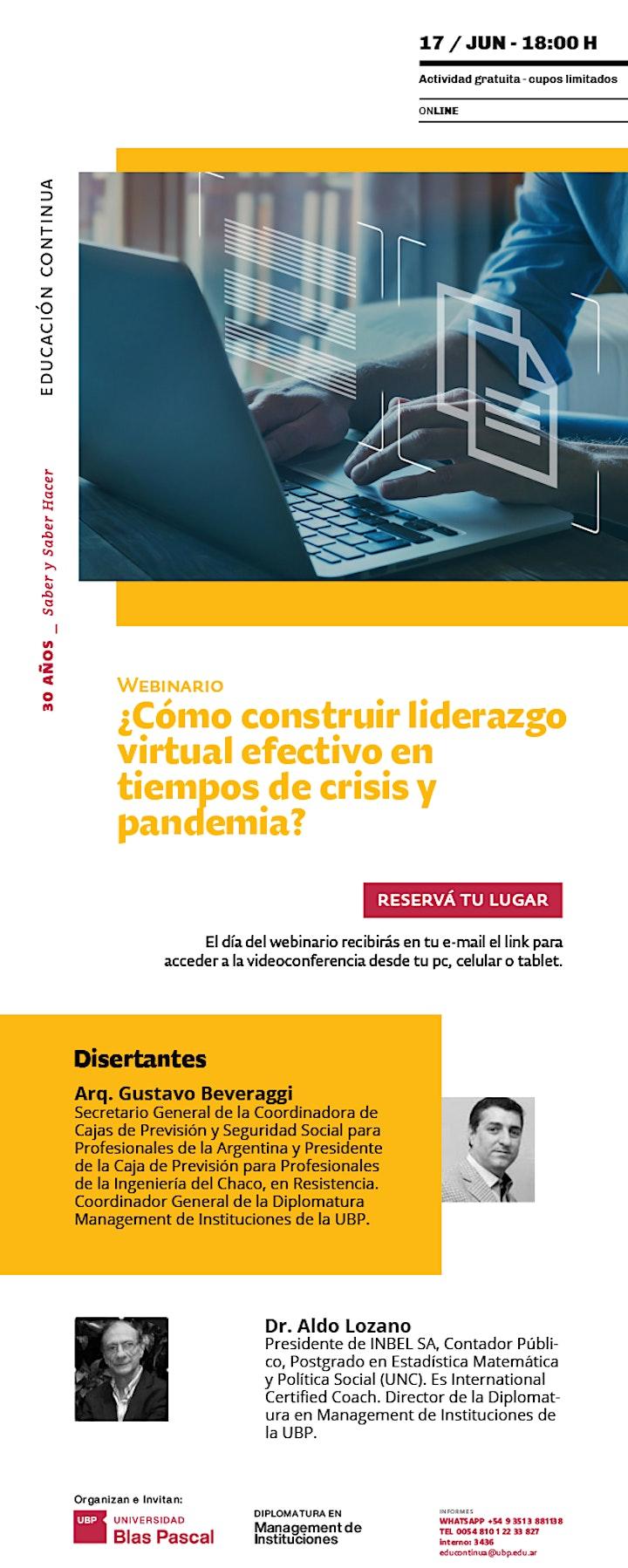 Imagen de Webinario>¿Cómo construir liderazgo virtual efectivo en tiempos de crisis?