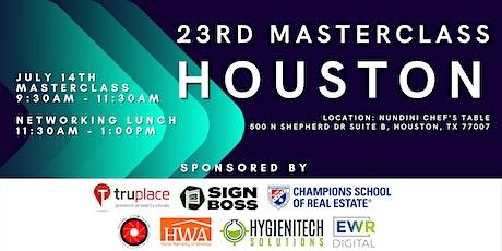 Masterclass Houston July 14th 2021 tickets