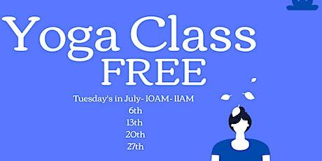 Yoga Classes FREE tickets