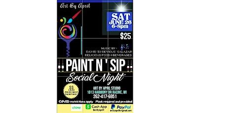 Paint N' Sip Social Night! tickets