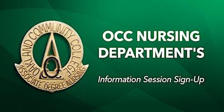 Nursing Info Session tickets