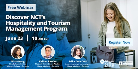 Discover NCT's Hospitality and Tourism Management Program tickets