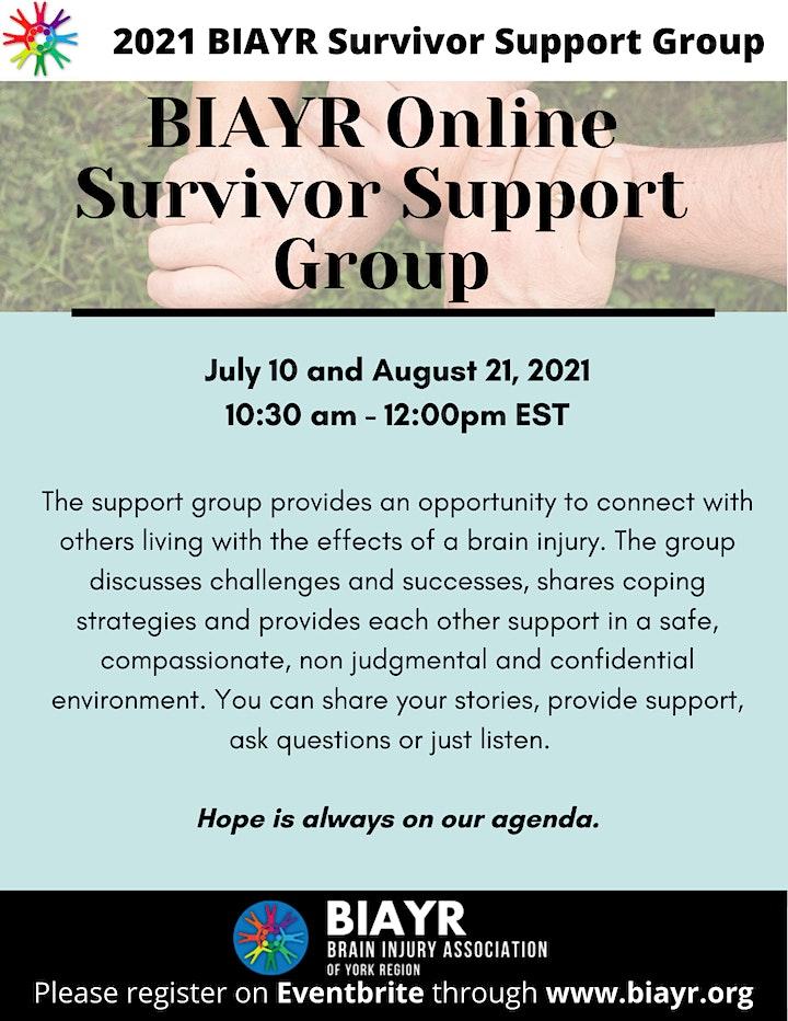 BIAYR Online Survivor Support Group 2021 image