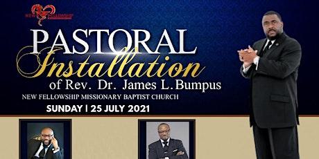 Rev. Dr. James L. Bumpus Pastoral Installation Celebration Dinner tickets