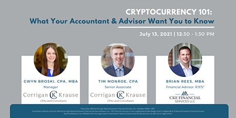 Cryptocurrency 101: What Your Accountant and Advisor Want You To Know tickets