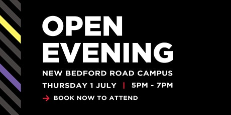 Barnfield College Open Evening - New Bedford Road campus tickets